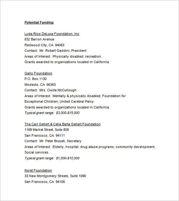 funding-grant-proposal-sample