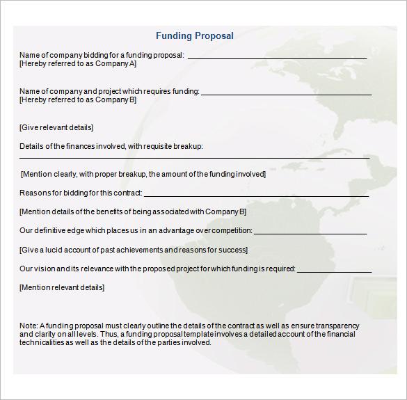 Funding Proposal Sample