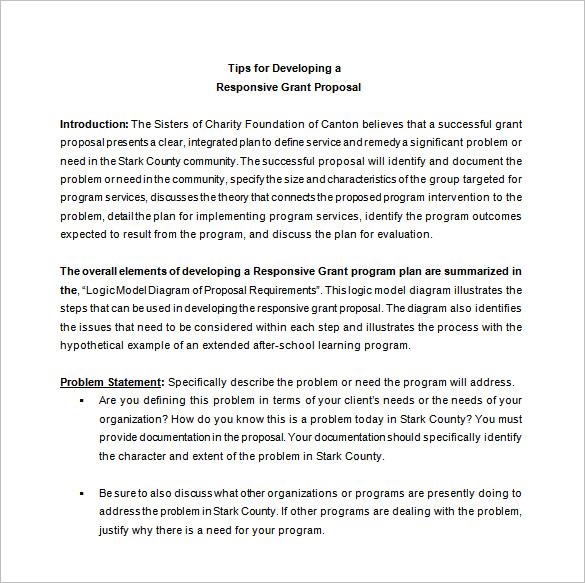 responsive grant proposal format ryan s marketing blog .