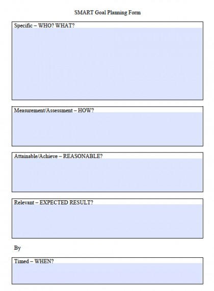 SMART-goal-planning-form