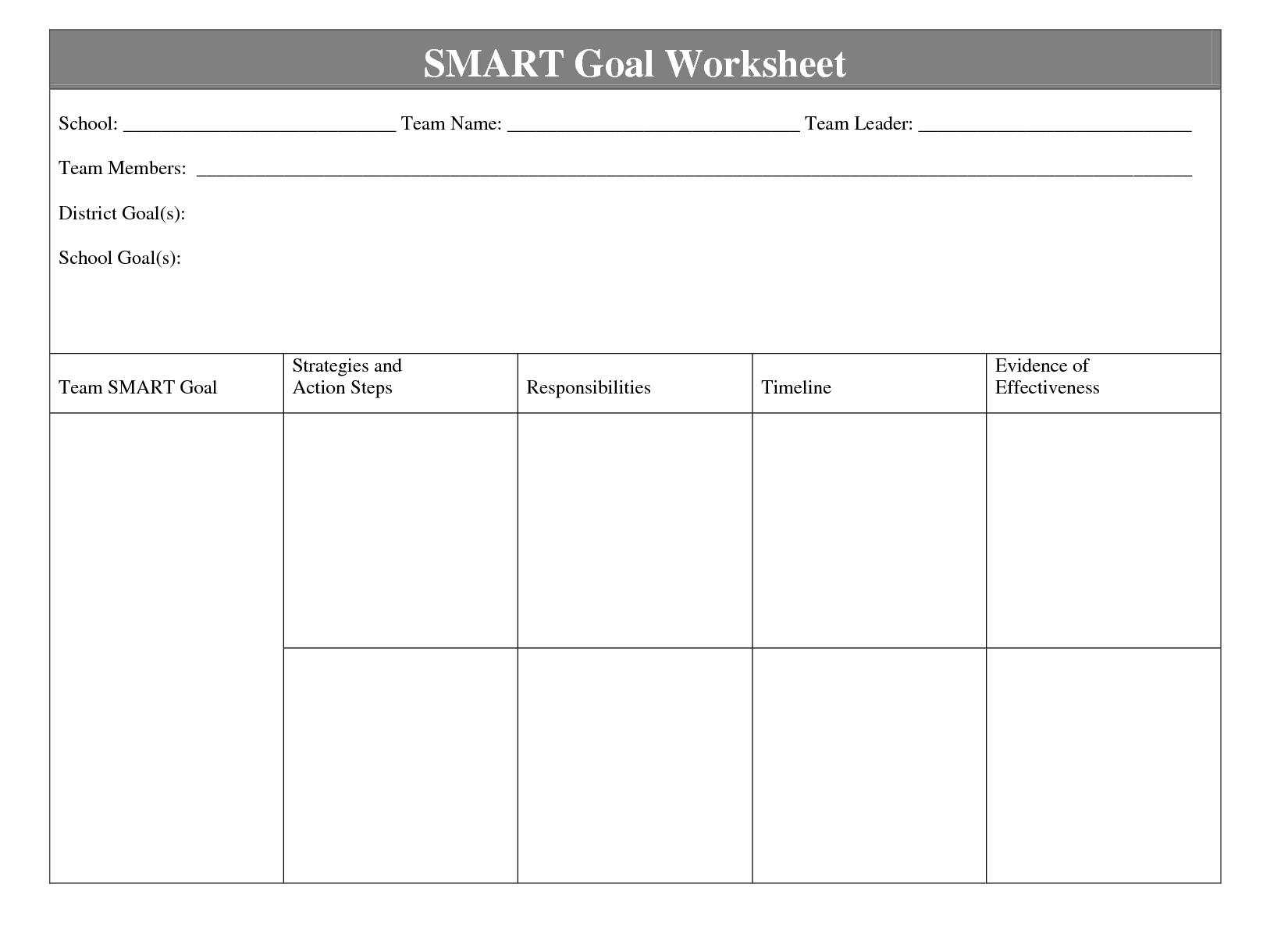 Worksheets Smart Goal Worksheet Template smart goal template targer golden dragon co template