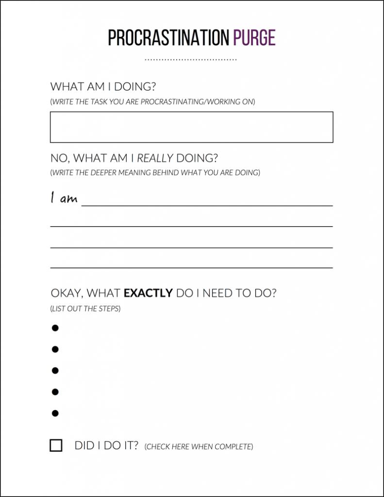 Procrastination-Purge-Worksheet-sheet