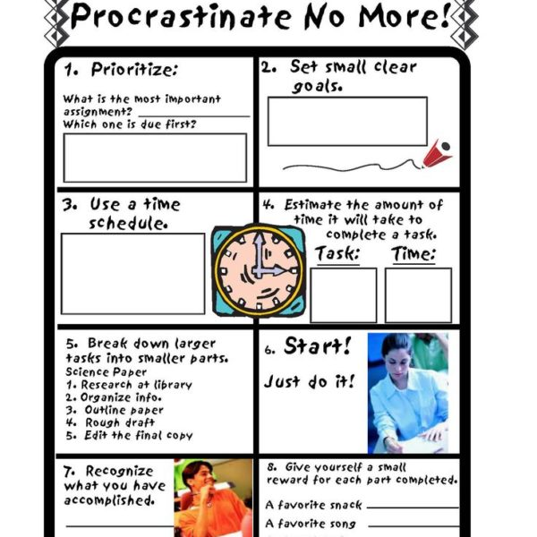 Procrastination Purge Worksheet - template