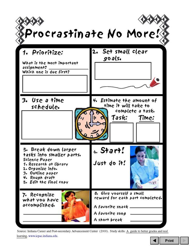 Procrastination Purge Worksheet - template