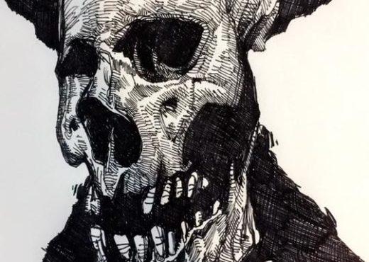 Skulls Sketches 2017 - RYanjlima (3)
