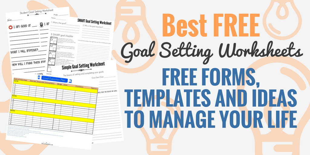 Best-Printable-2018-2019-FREE-Goal-Setting-Worksheets and templates ...