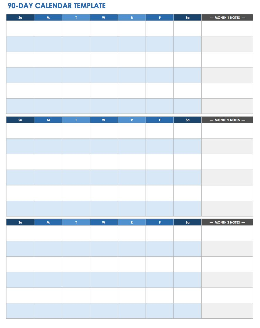 90 Day Calendar.Ic 90 Day Calendar Template Printable Pdf Doc Ryan S Marketing Blog