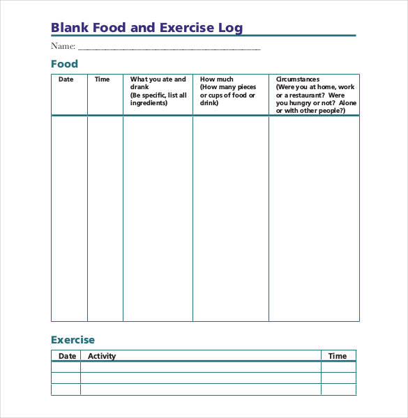 Blank-Food-and-Exercise-Log-template-pdf-doc – Ryan\'s Marketing Blog