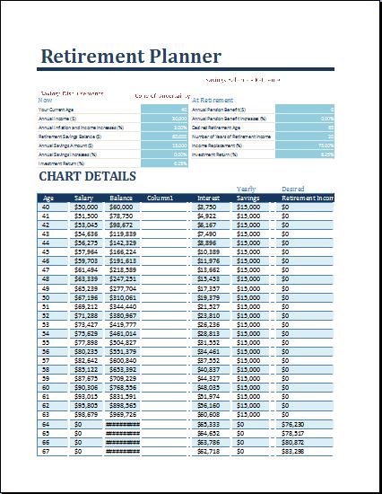 retirement financial planner excel sheet ryan s marketing blog