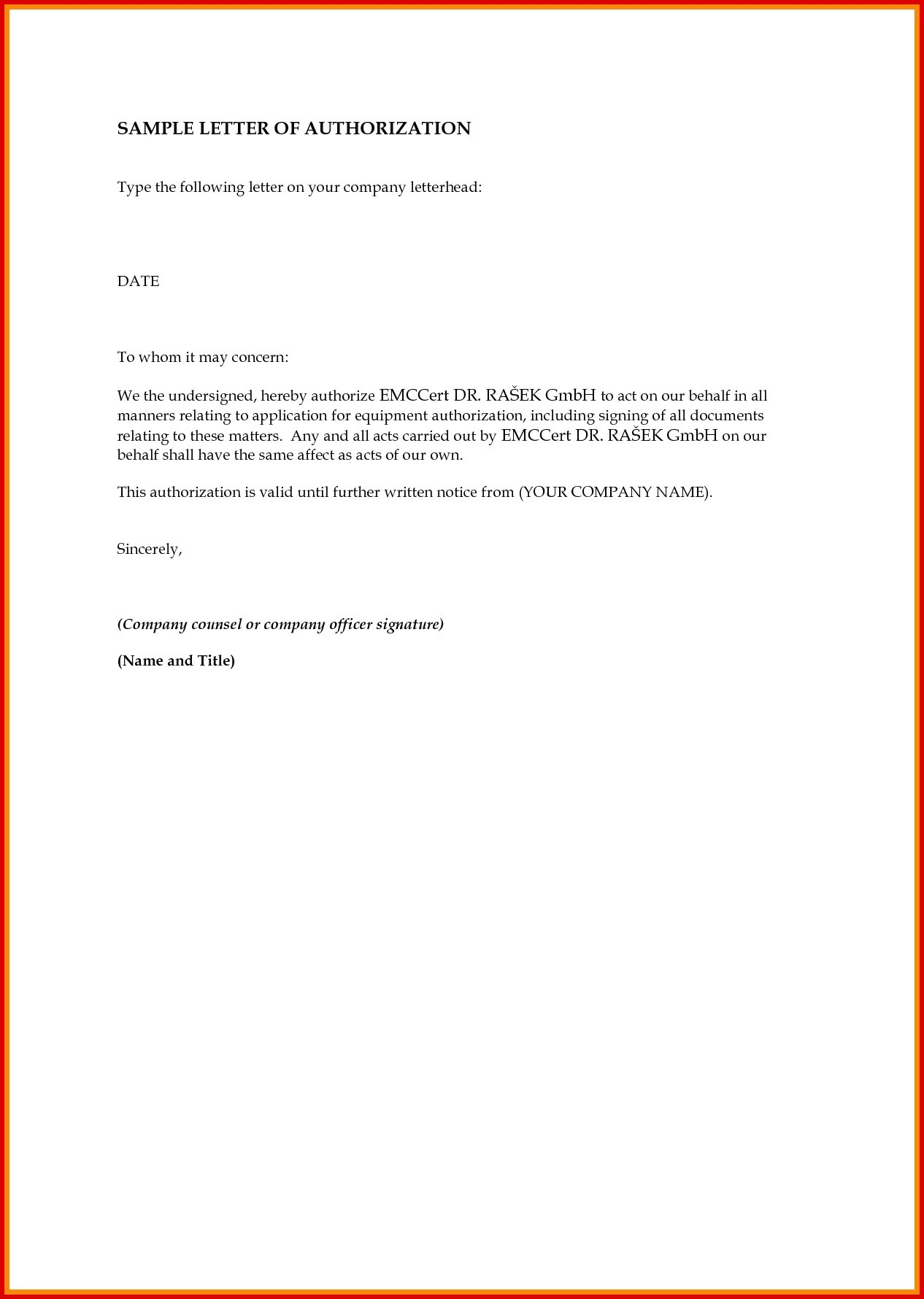 Authorization Letter Sample To Get Documents from ryanjlima.com
