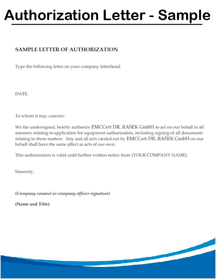 Authorization Letter For Internet Templates Ryan S